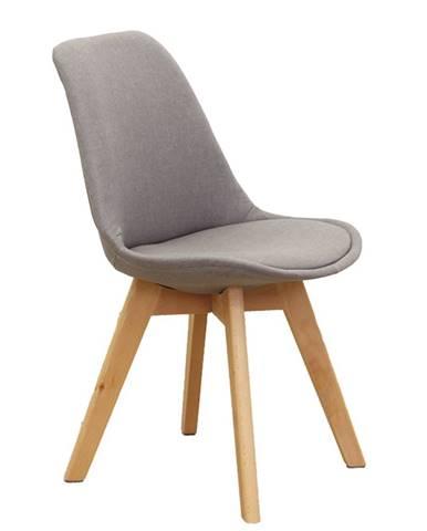 Lorita jedálenská stolička sivohnedá