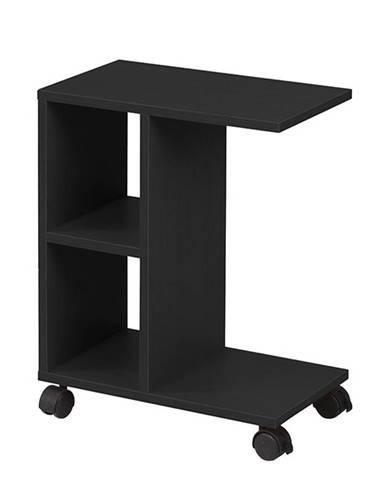 Abbas New príručný stolík na kolieskach čierna