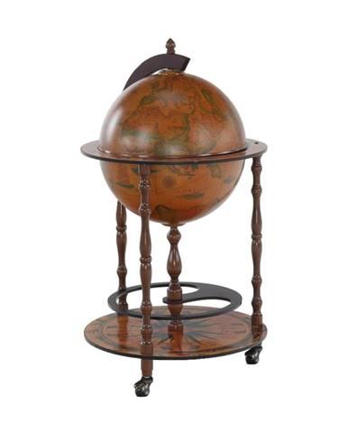 Globus 2-324 barový stolík na kolieskach čerešňa