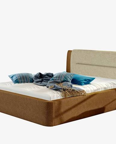 Portima 180 čalúnená manželská posteľ tmavohnedá (Dora 26)