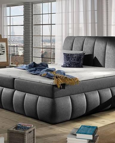 Vareso 140 čalúnená manželská posteľ s úložným priestorom čierna (Dora 96)