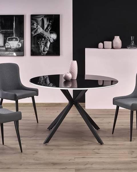 Halmar Avelar okrúhly sklenený jedálenský stôl čierna