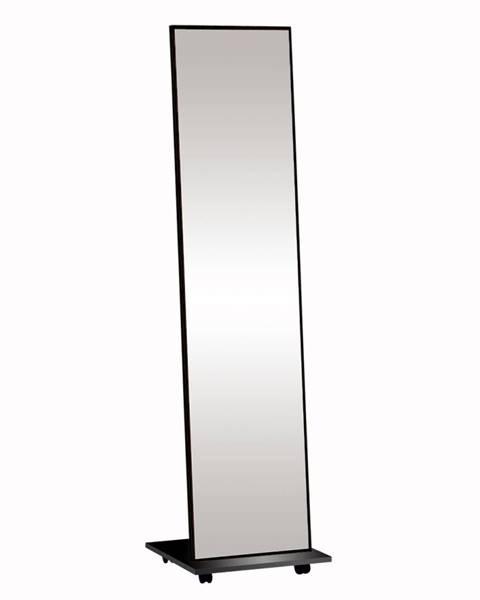 Kondela Neptun stojace zrkadlo na kolieskach čierna