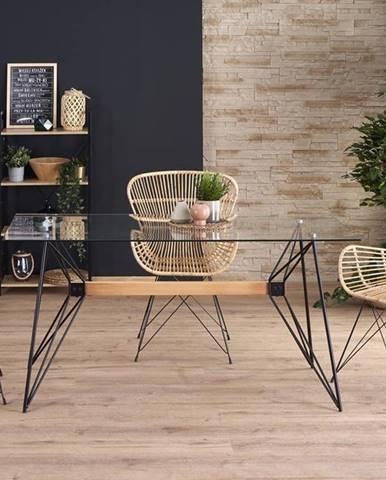 Allegro sklenený jedálenský stôl priehľadná