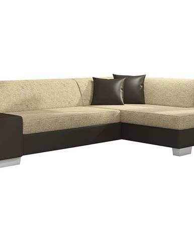 Ferol P rohová sedačka s rozkladom a úložným priestorom cappuccino