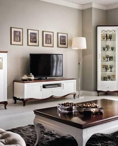 Milano rustikálna obývacia izba biela