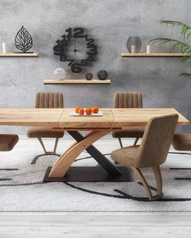 Sandor 3 rozkladací jedálenský stôl dub zlatý