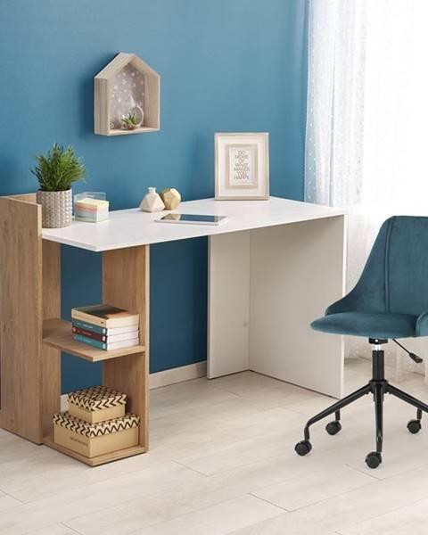Halmar Fino písací stôl dub zlatý