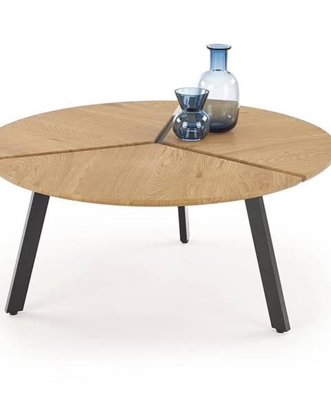 Halmar Luana okrúhly konferenčný stolík dub zlatý