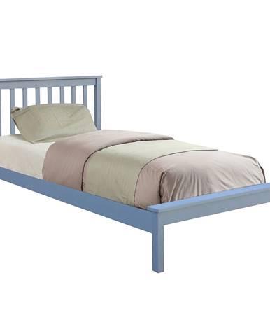 Mange jednolôžková posteľ s roštom sivá