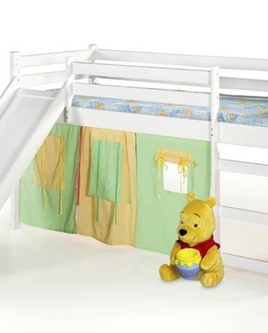 Neo Plus 80 drevená poschodová posteľ s roštom a matracom biela