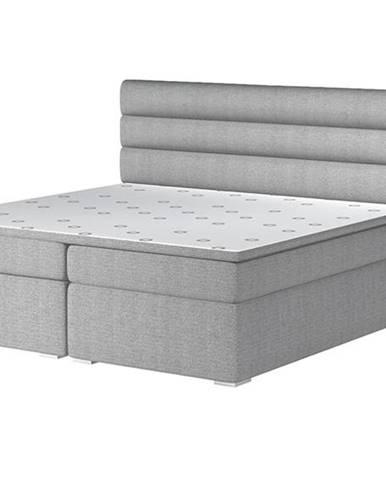 Spezia 160 čalúnená manželská posteľ s úložným priestorom svetlosivá (Orinoco 21)