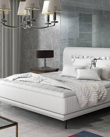 Ancona 140 čalúnená manželská posteľ biela
