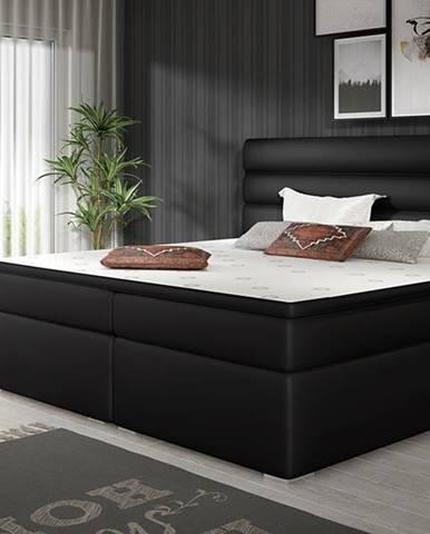 Spezia 180 čalúnená manželská posteľ s úložným priestorom čierna (Soft 11)