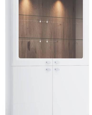 Aspen AS-W2 vitrína biely vysoký lesk