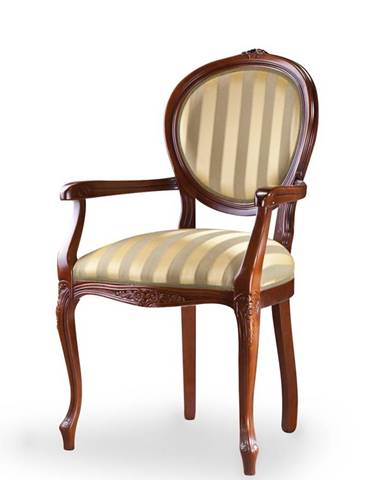 Krzeslo L rustikálne jedálenské kreslo hnedá