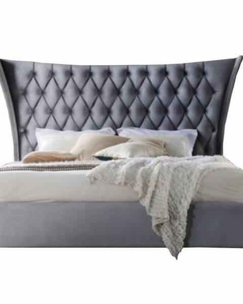 Kondela Alesia 180 manželská posteľ 180x200 cm sivá