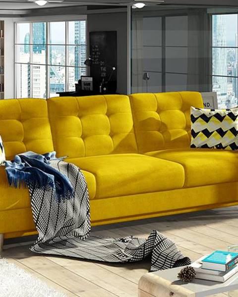NABBI Aveza 3F rozkladacia trojsedačka s úložným priestorom žltá