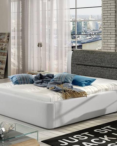 NABBI Portima 140 čalúnená manželská posteľ biela (Soft 17)