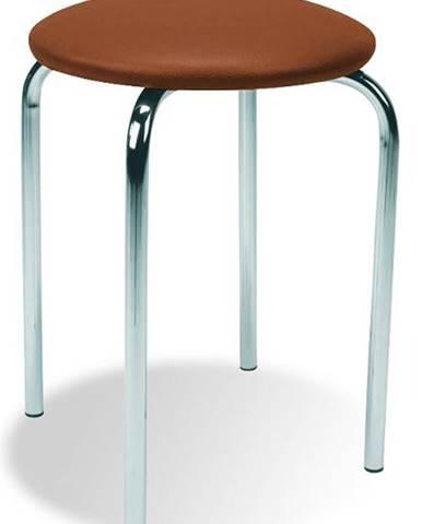Chico stolička bez operadla hnedá (V49)