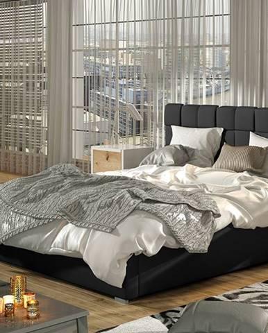 Galimo 180 čalúnená manželská posteľ s roštom čierna