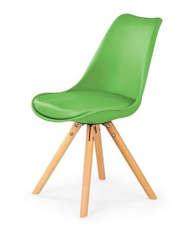 K201 jedálenská stolička zelená