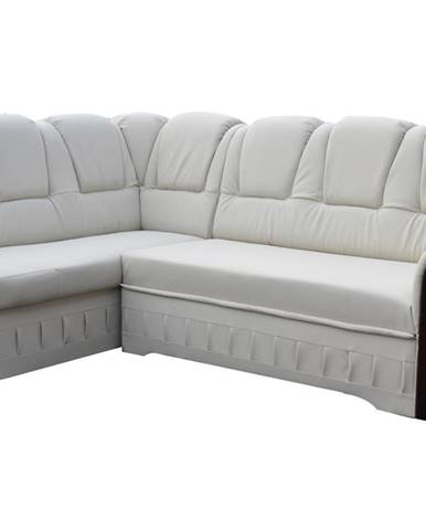 Latino L rohová sedačka s rozkladom a úložným priestorom biela