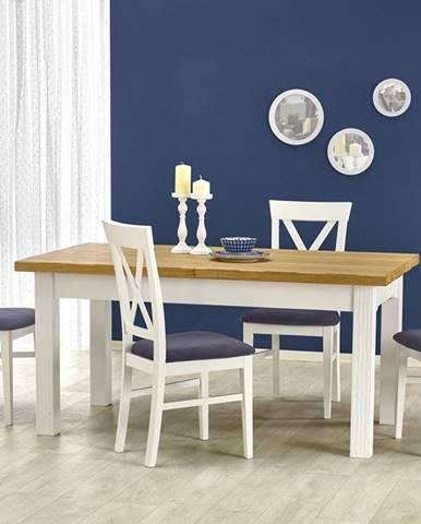 Leonardo rustikálny rozkladací jedálenský stôl biela