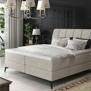 Altama 180 čalúnená manželská posteľ s úložným priestorom svetlosivá (Orinoco 21)