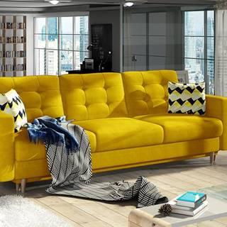Aveza 3F rozkladacia trojsedačka s úložným priestorom žltá