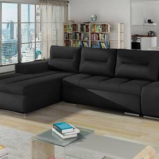 Otelo L rohová sedačka s rozkladom a úložným priestorom čierna (Sawana 14)
