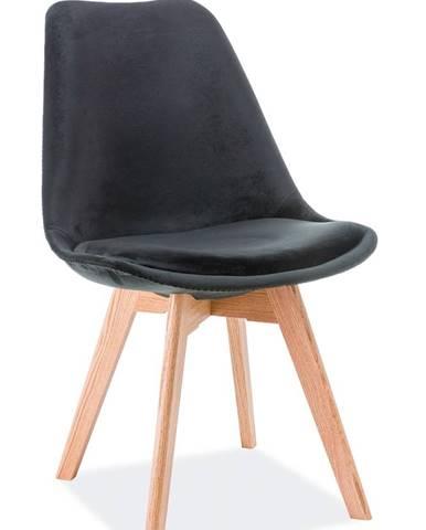 Dior Dub Velvet jedálenská stolička čierna