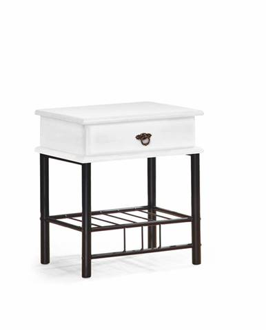 Fiona nočný stolík krémová