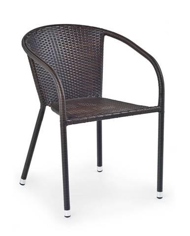Midas záhradná stolička tmavohnedá