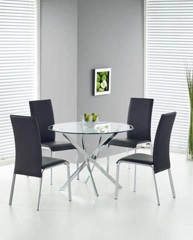 Raymond okrúhly sklenený jedálenský stôl priehľadná