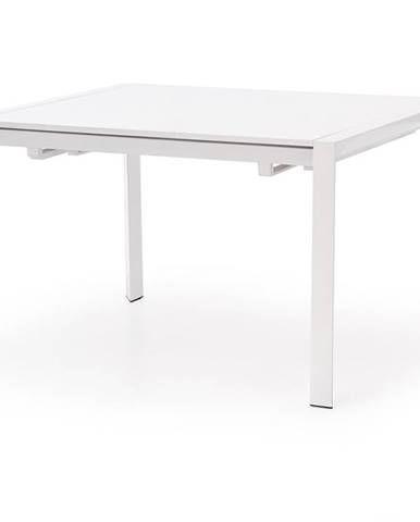 Stanford rozkladací jedálenský stôl biely lesk