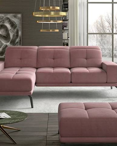 Tirreno L rohová sedačka ružová