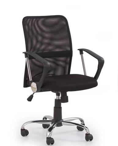 Tony kancelárska stolička s podrúčkami čierna