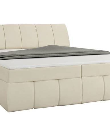 Vareso 140 čalúnená manželská posteľ s úložným priestorom béžová (Soft 33)