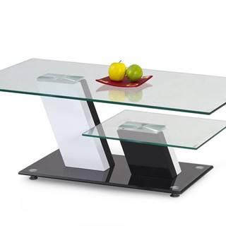 Savana sklenený konferenčný stolík čierny lesk