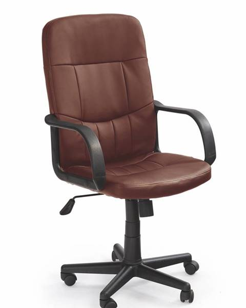 Halmar Denzel kancelárske kreslo s podrúčkami tmavohnedá