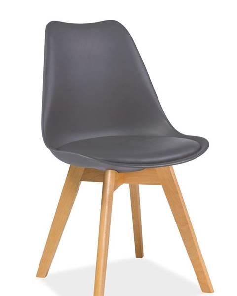 Signal Kris Buk jedálenská stolička sivá
