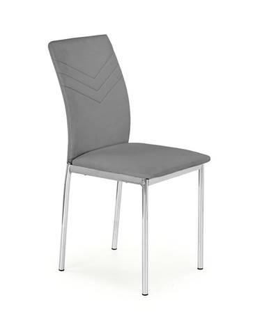 K137 jedálenská stolička sivá