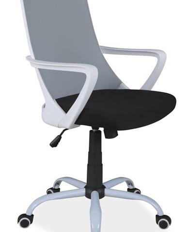 Q-248 kancelárska stolička s podrúčkami sivá