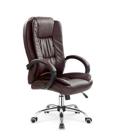 Relax kancelárske kreslo s podrúčkami tmavohnedá