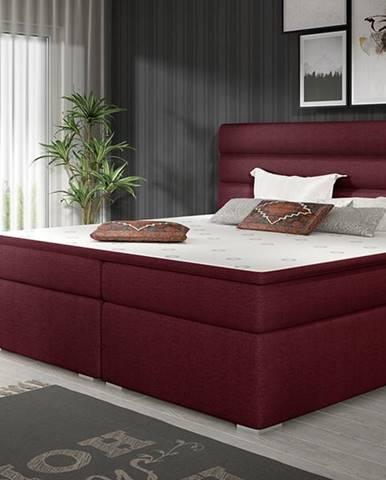 Spezia 180 čalúnená manželská posteľ s úložným priestorom vínová