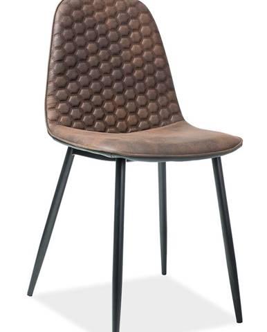 Teo D jedálenská stolička hnedá