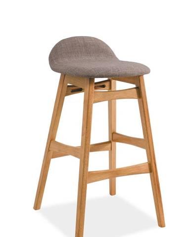 Trento barová stolička sivá