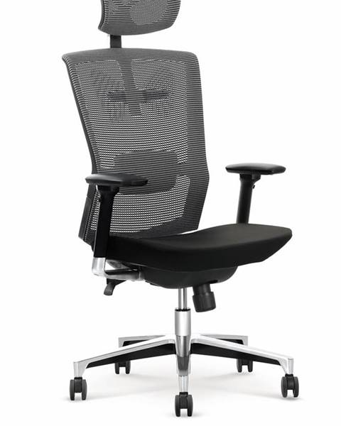 Halmar Ambasador kancelárska stolička s podrúčkami čierna