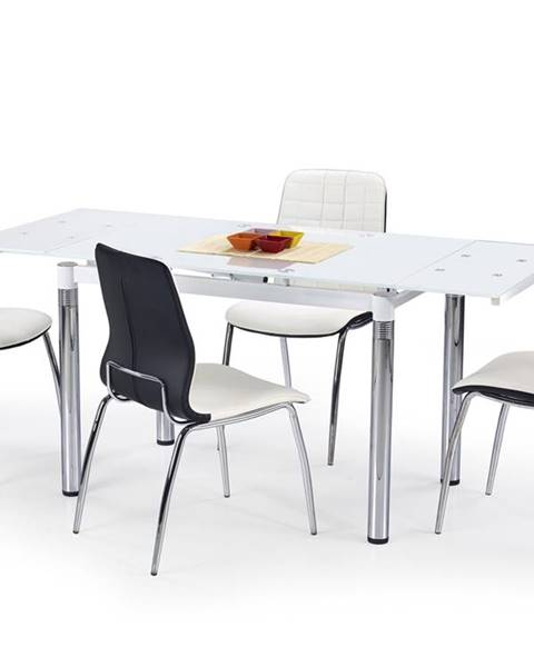 Halmar L31 sklenený rozkladací jedálenský stôl biela